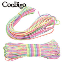 3mm Light Rainbow Cord Paracord Bracelet Rope Mixed Color Para Cords for Outdoor Camping Hiking Clothesline Lanyard 1Wire Inside