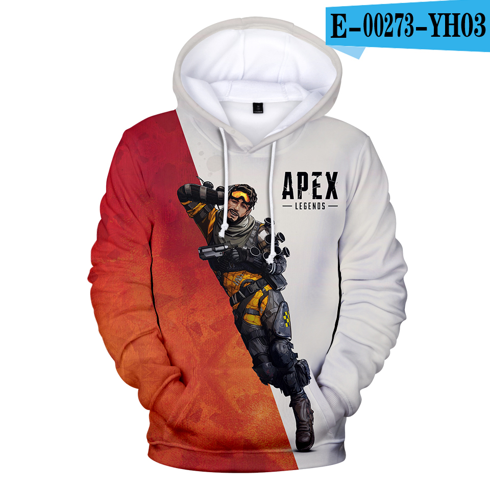 Hot Sale 3D Apex Legends Hoodies Sweatshirts Men/Boy Hoody Game Apex Legends Clothing Famous Brand Autumn Winter Hoodie