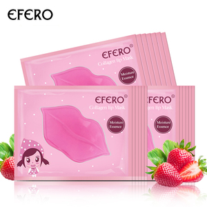 HOT Skin Care Crystal Collagen Facial Mask Lip Mask Moisture Essence Lip Care Pads Anti Ageing Wrinkle Patch Pad Gel