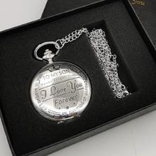 Изысканные для моего сына кварцевые карманные часы винтажные fob часы мужские Подвесные часы подарки на день рождения для мальчиков