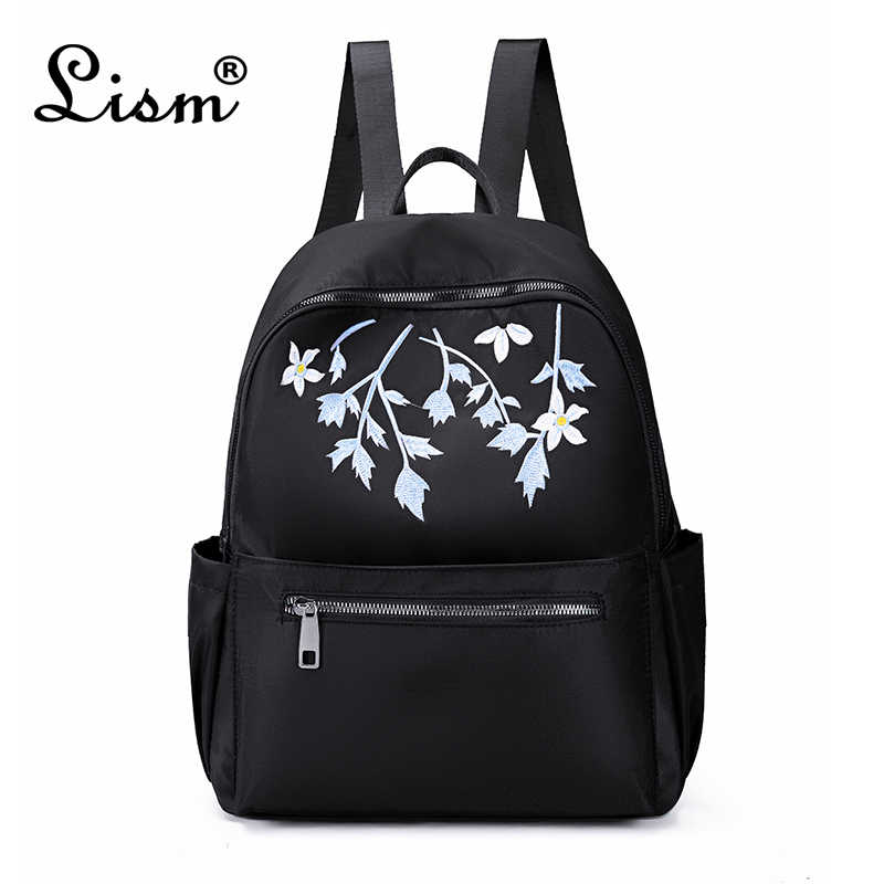 Luxury brand Oxford waterproof backpack 2020 new embroidery ladies backpack college style trend travel bag black main