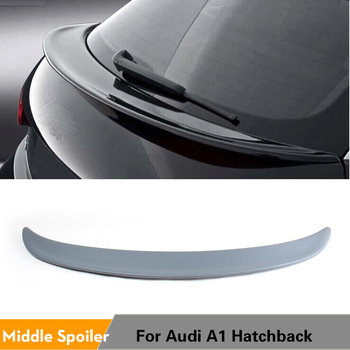 Rear Boot Spoiler Middle Wing For Audi A1 Hatchback Coupe 2-Door 2010 2011 2012 2013 PU Unpainted Grey Primer