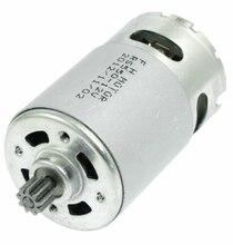 Motor de broca elétrico 12v-18v 9/12 dentes rs550 para a chave de fenda sem fio da broca de gsr