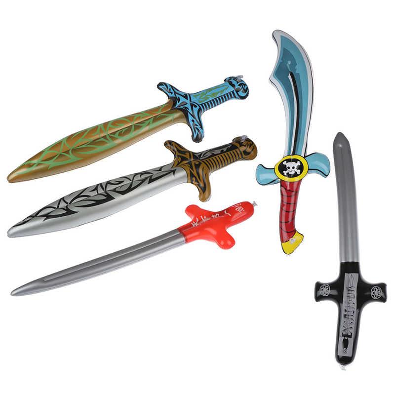 1 adet yeni şişme açık oyuncaklar çocuklar bahçe bahçesinde oyuncaklar çocuk oyuncakları korsan kılıç şekil Anime şişme kılıç çocuk hediyeler