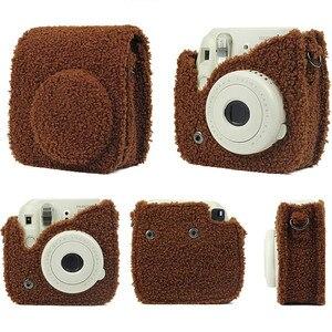 Image 5 - حافظة كاميرا Fujifilm Instax Mini 9 Mini 8 ملحقات كاميرا فيلم فورية غطاء مخملي حقيبة بحزام للكتف واقي للكيس