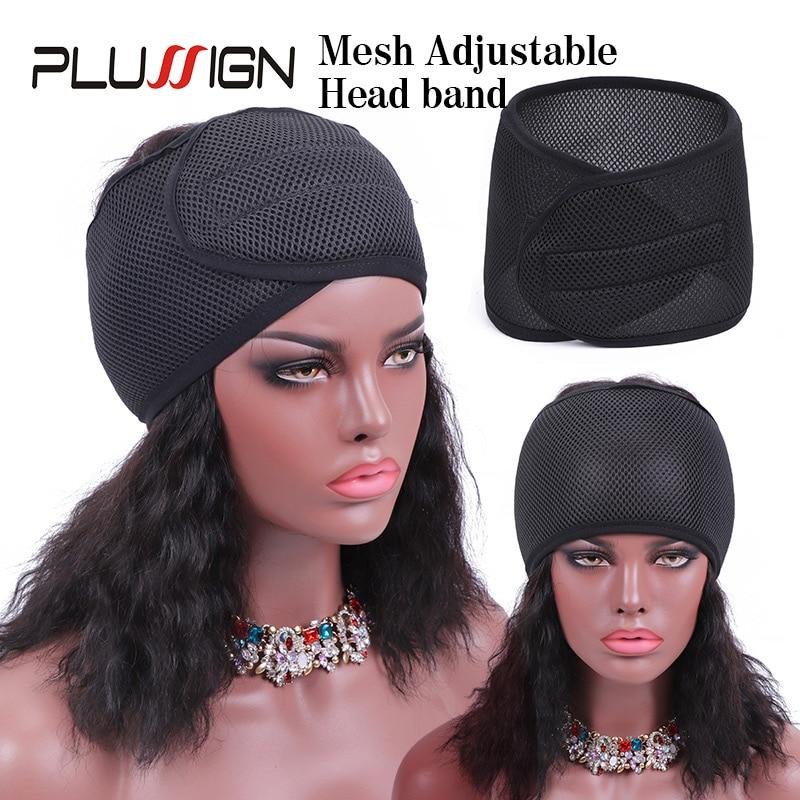 Deluxe Foam Mesh Wrap Black Red Blue Healthy Olive Oil Vitamin E Treated Headband Edges Hair Wrap Adjustable Hair Wrap For Edges