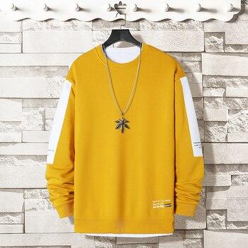 Oversized Crewneck Sweatshirt Men 2020 Spring  4
