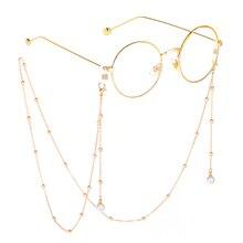 Шикарные жемчужные металлические очки цепь Non-slip Винтаж шнурок для очков подставка для очков для чтения шейный ремешок веревка цепочка для ...