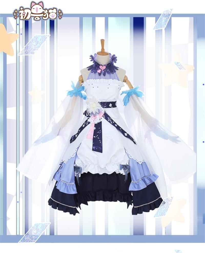 Anime carte Captor Sakura blanc neige robe Cosplay déguisement Lolita Halloween Costume de fête de noël H