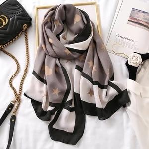 Image 3 - Luxury brand scarf leopard women Soft Pashminas shawl cotton silk scarves Sjaal muslim hijab,animal print leopardo stole bandana