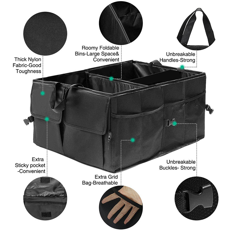 Car Trunk Organizer Eco-Friendly Super Strong & Durable Collapsible Cargo Storage Box For Auto Trucks SUV Trunk Box / Box 4