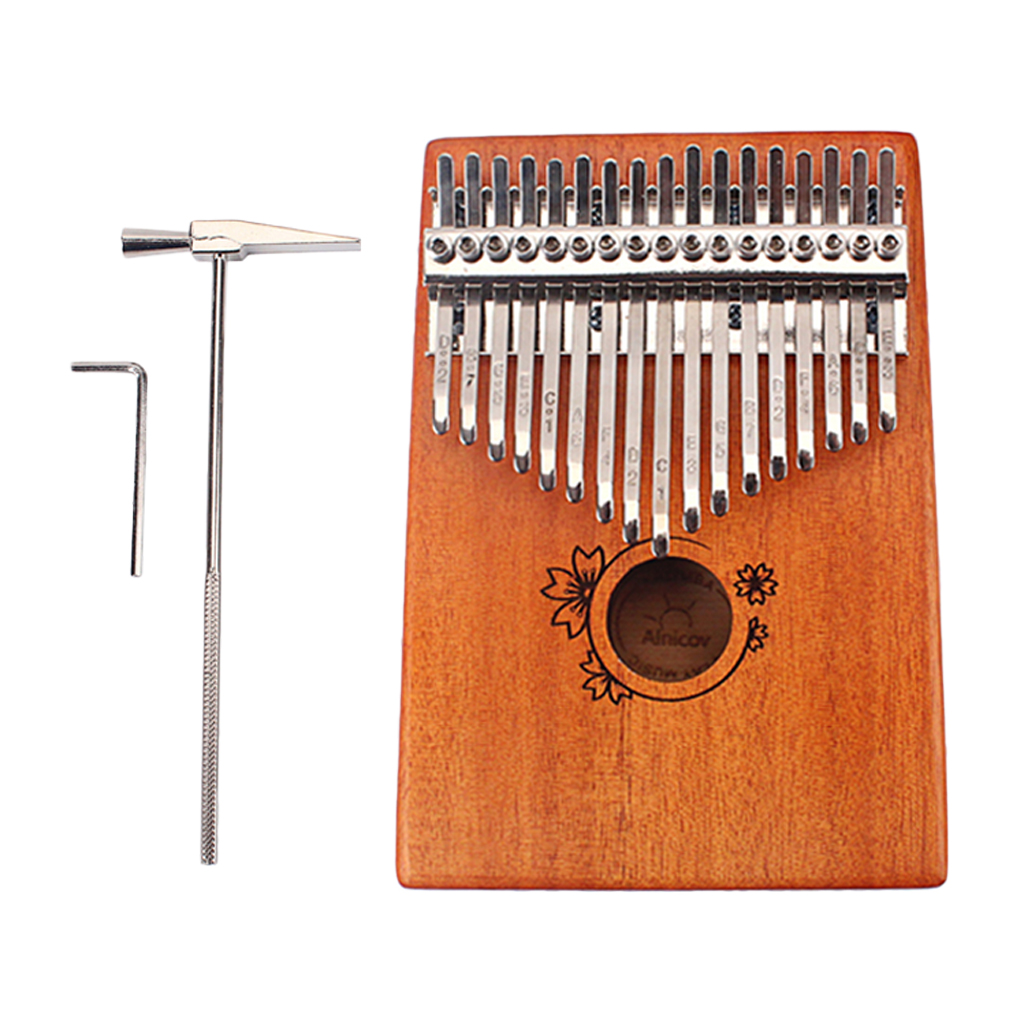 17 Keys Finger Thumb Piano Kalimba African with Tuning Hammer Percussion Instruments for Kids