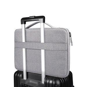 Image 5 - Ударопрочная сумка для ноутбука 13 14 15,6 дюйма, рукав для ноутбука MacBook Air Pro 13 Matebook 14, женская и мужская однотонная сумка для ноутбука