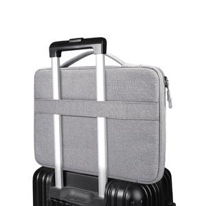 Image 5 - Shockproof Laptop Bag 13 14 15.6 inch Laptop Sleeve for MacBook Air Pro 13 Matebook 14 Sleeve Women Men Solid Laptop Handbag
