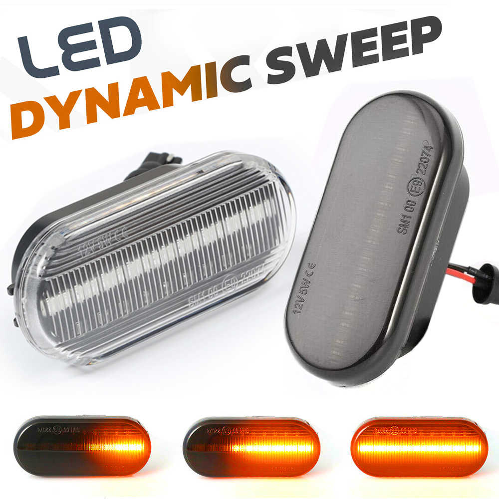 Dynamic Flowing LED Side Marker Signal Light Indicator Repeaters For VW T5