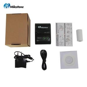 Image 2 - Milestone Bluetooth Thermische Printer Ontvangst Factuur 58Mm Mini Usb Draagbare Draadloze Ticket Android Ios Pocket Printer P10