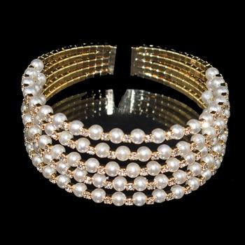 Crystal Pearl Layer Bracelet  5