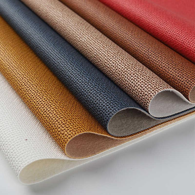 Pvc Synthetisch Leer Weave Patroon Leer Stof Diy Handwerk Kunstleer Voor Sofa Kussen Tassen Kleding Kunstleer Materiaal