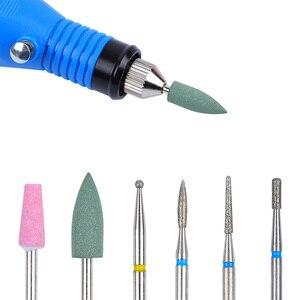 Image 5 - 6PCS Ceramic Diamond Nail Drill Bits Set Tungsten Carbide Milling Cutter Manicure Pedicure Gel Remover File Electric Machine Bit