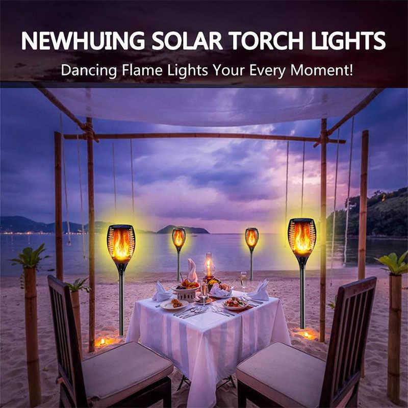 33/96 Led Solar Flame Lamp Outdoor Zaklamp Lights Veiligheid Waterdichte Licht Flikkeren Verlichting Voor Tuin Decoratie Automatische Op Dusk