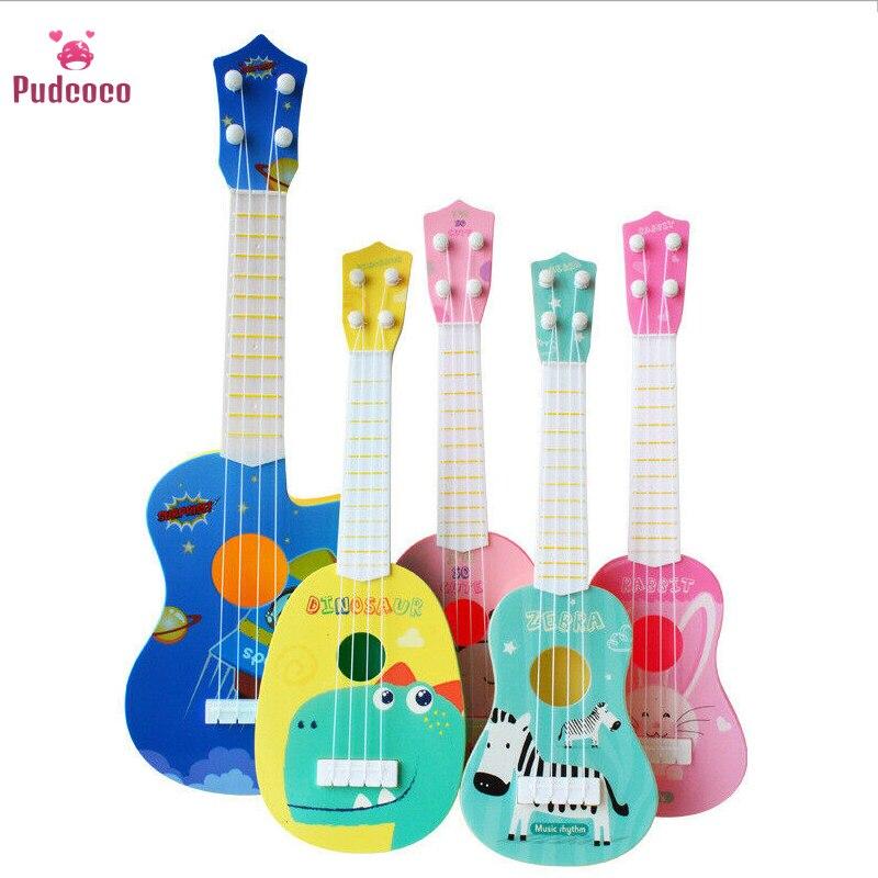 Pudcoco музыкальный инструмент животное музыкальная гитара инструмент укулеле для детей детские развивающие игрушки для игры в школу игра