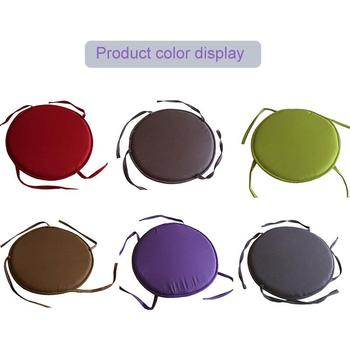 35*35cm Round Seat Pad Cushion Dining Circular Cushion Patio Cushions Round Seat Cushion Furniture Tie-On Bistro Kitchen Circle image