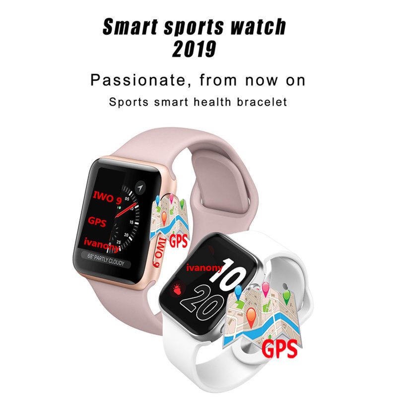 IWO 9 Bluetooth Smart Watch Series 4 1:1 Heart Rate GPS Tracker Sports Smartwatch For Iphone Samsung Fast Ship for Dropshipping - 3