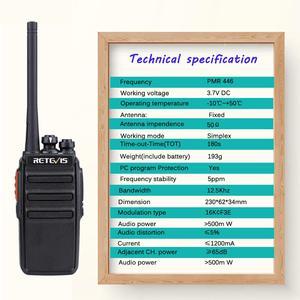 Image 5 - Retevis RT24 PMR Radio Walkie Talkie 2pcs 0.5W PMR446 License free Two way Radio Station Handy Walkie talkies Radio Communicator