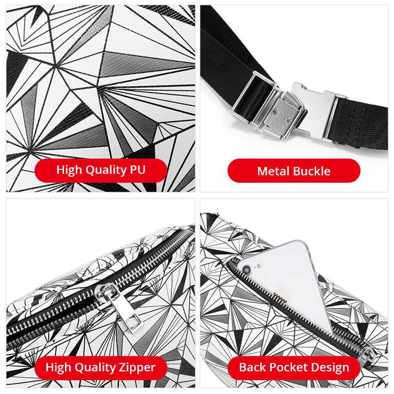 REALER taille tasche frauen geometrische fanny pack weiblichen brust gürtel tasche für telefon geldbörsen karte halter