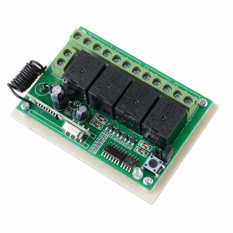 محول لاسلكي للتحكم عن بعد تيار مستمر 5 فولت 12 فولت قناة 4CH 433 ميجاهرتز مفتاح RF الدوائر المتكاملة جهاز إرسال أسود لتقوم بها بنفسك استبدال أداة الجزء