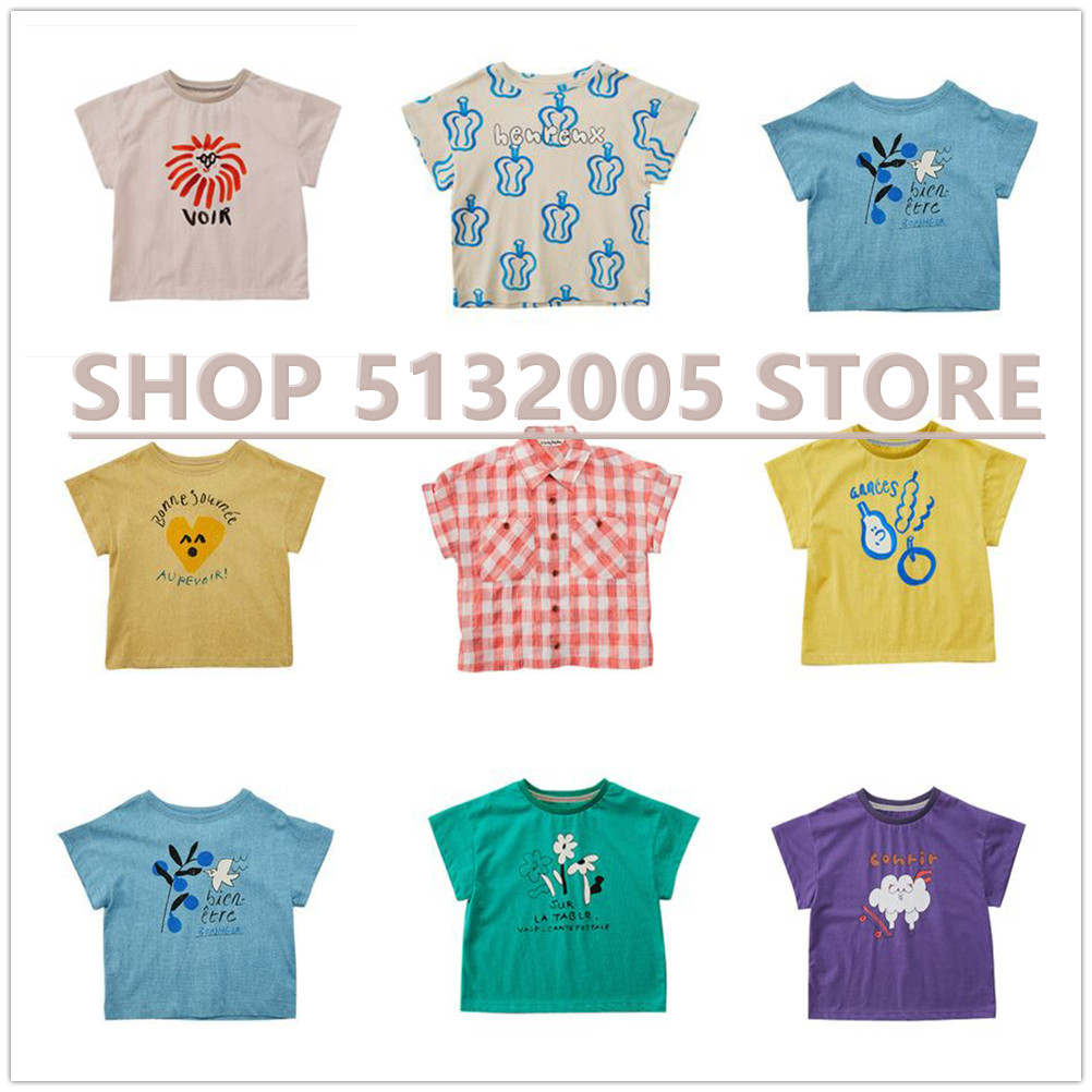 Pre-sale 2020  Spring Summer Boys Girls Short Sleeve New Print T Shirts Baby Children Cotton Tops Tees Clothes