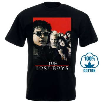 The Lost Boys 80S Horror Vintage Movie Men'S Black T Shirt Clothing New From Us