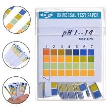 100 Strips 1-14 PH Test Strip Alkaline Acid Indicator Paper Mayitr Universal Lab Test Paper For Liquid Water Soil Testing mayitr 100