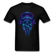2019 Fashion Zombie The Navigator Men T-shirts Hipster Punk Black Tee Shirt Rock & Roll Blue Music Skull Print