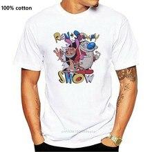 Ren ve Stimpy gösterisi T-Shirt Tee gömlek erkekler kadınlar için