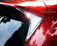 S. steel Spoiler Traseiro Asa Janela Lateral Cromado Tampa Molding Guarnição PARA Mazda CX5 13-16