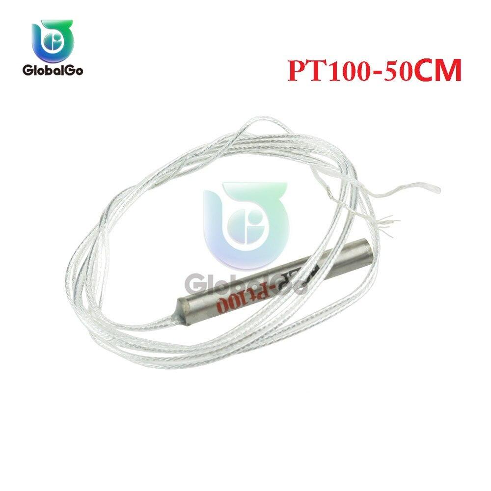 3 pièces/lot-20 ° ~ 450 ° c PT100 platine Resister capteur de température étanche Temp sonde 50CM câble