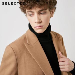Image 4 - SELECTED Autumn & Winter New Mens Wool Coat Vintage Business Long Woolen Outwear Jacket Coat T