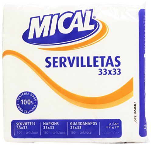 MICAL–White Napkins–33x 33(Pack With 70Napkins)