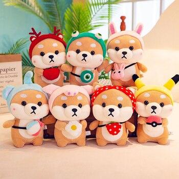 цена на Kawaii Shiba Inu Dog Plush Toy Soft Stuffed Animal Corgi Chai Doll Toy For Kid Pillow Cosplay Shiba Dog Christmas Valentine Gift
