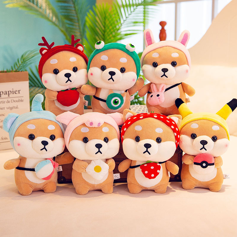Kawaii Shiba Inu perro de peluche de juguete suave Animal de peluche Corgi Chai muñeca de juguete para chico almohada Cosplay Shiba perro navidad regalo de San Valentín