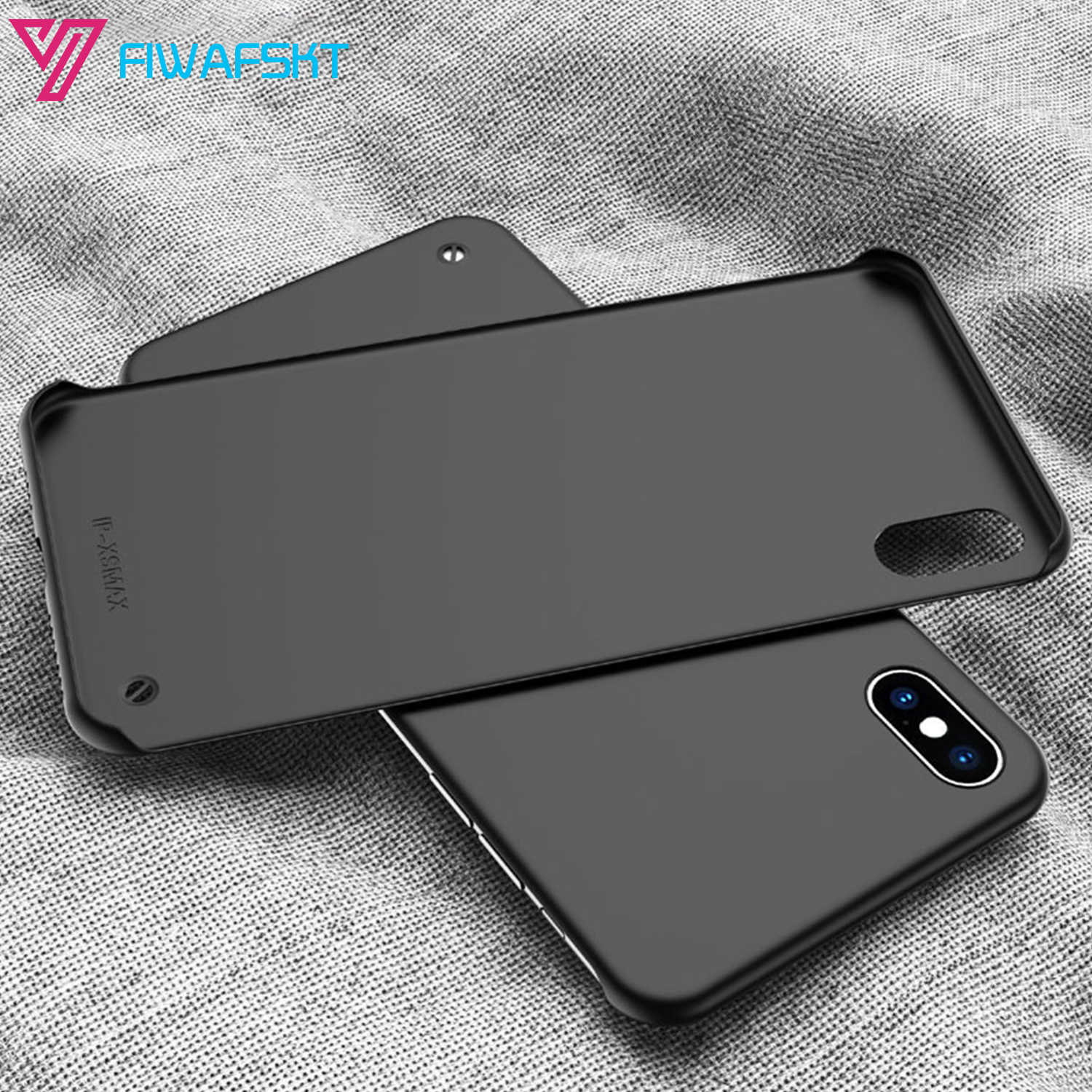 FramelessสำหรับiPhone XS Max XR X 7 8 Plus 6 6S Plus 11 Pro 2019 5.8 6.1 6.5 นิ้วใหม่CandyกรณีHard PC Matte Back Cover