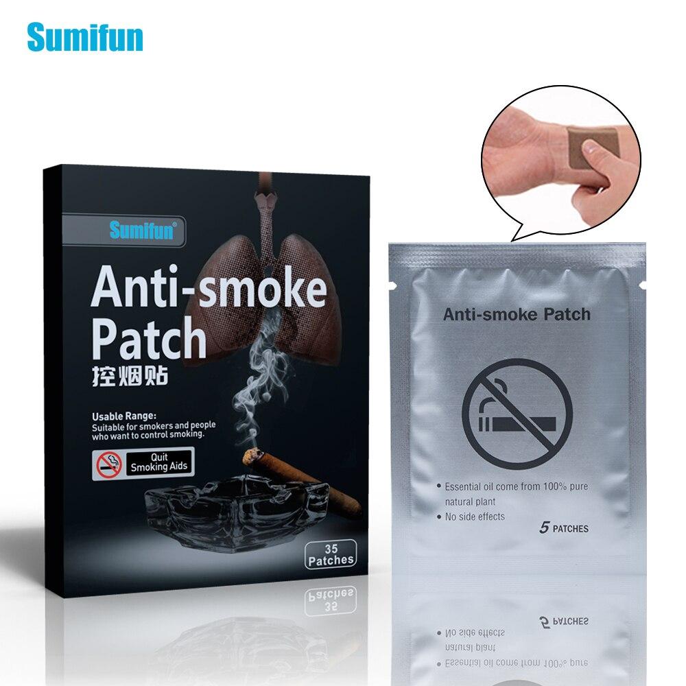 35 шт. Sumifun анти-дым патч никотина штукатурка единый курения 100% натуральный ингредиент Quit наклейка стоп курение здравоохранения