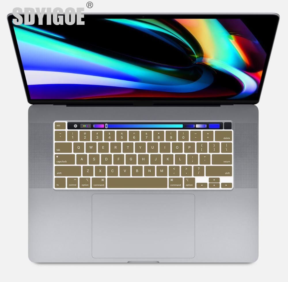 Laptop Keyboard Cover For Macbook Pro 16 Inch Touch Bar Keyboard Protective Film For Macbook 16pro A2141 Mac Pro Color Cover