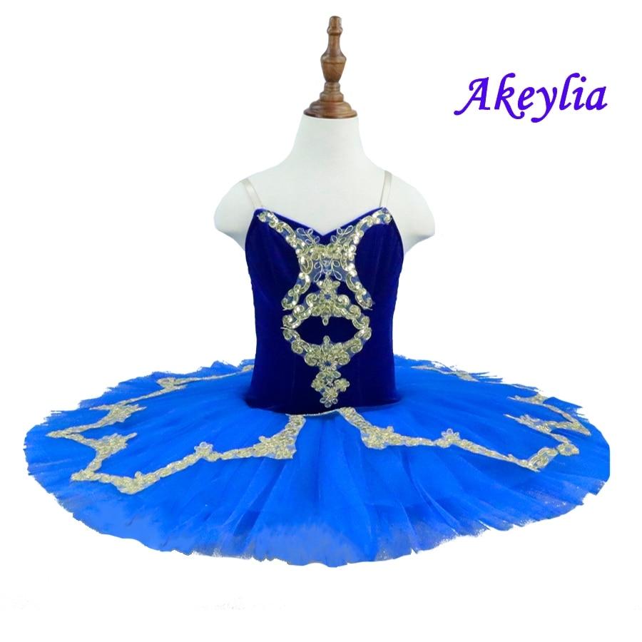 7 layer of tulle Royal blue ballet tutu for girls Pancake platter tutus dark blue children ballet costumes for ballerina 19070