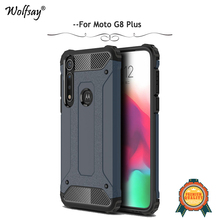 For Moto G8 Plus Case Shockproof Armor Rubber Hard Back Phone Case For Moto G8 Plus Protective Cover For Motorola Moto G8 Plus pudini wb moto x protective plastic back case for moto x phone purple red