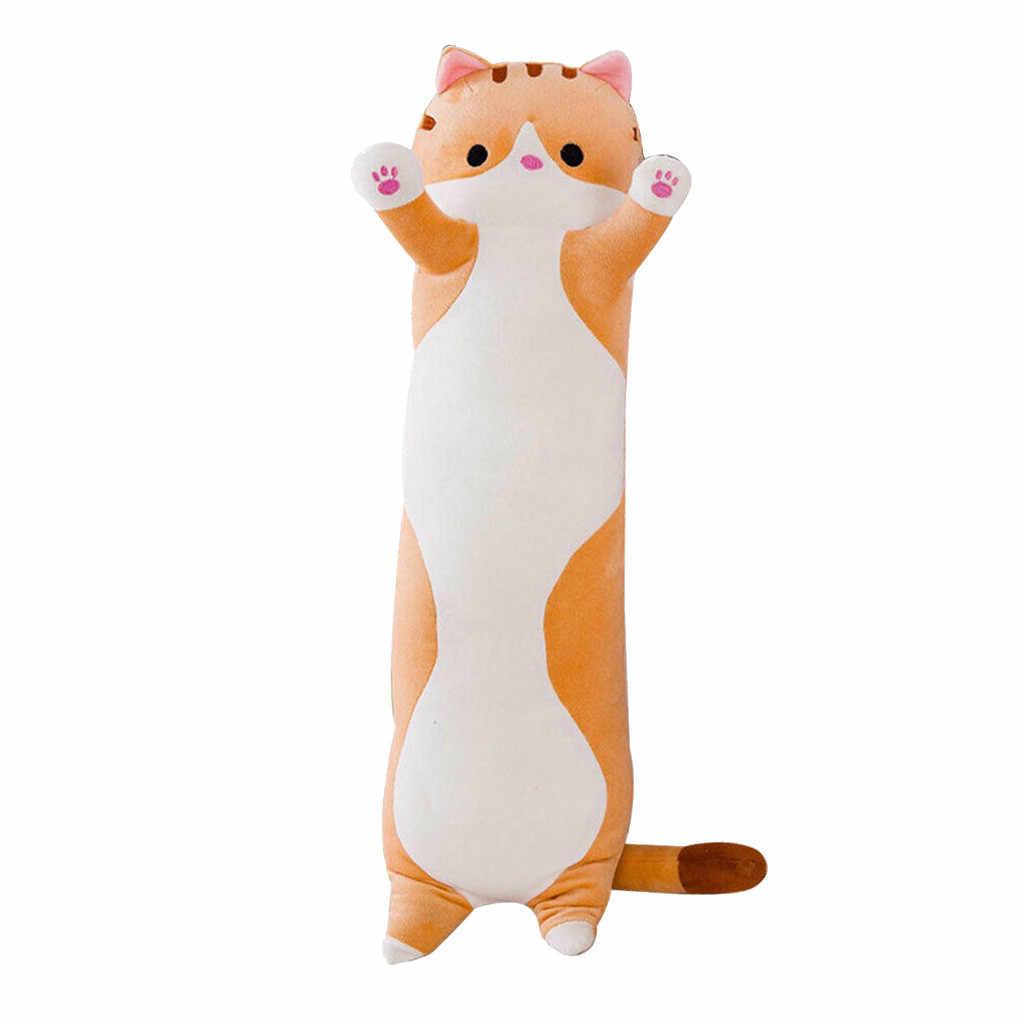 Plüsch Spielzeug Tier Katze Nette Kreative Lange Weiche Spielzeug Büro Mittagessen Brechen Nickerchen Schlaf Kissen Kissen Angefüllte Geschenk Puppe für kinder