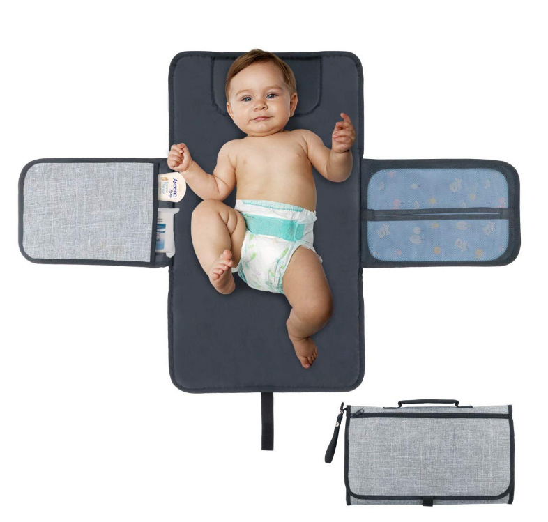 Baby Changing Mat Waterproof Mummy Bag Baby Stroller Portable Diaper Changing Pad Changing Diaper Clutch For Camping Travel