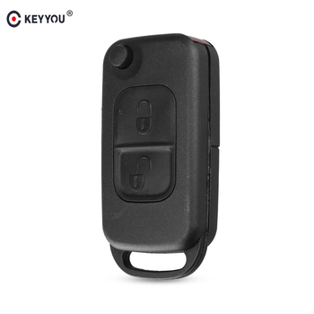 KEYYOU Replacement Flip 1/2/3/4 Button Remote Key Case Folding Shell For Mercedes Benz C E S ML SL ML55 AMG S500 SL500 W168 W124 image