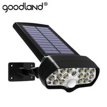 Xã Goodland Đèn LED Năng Lượng Mặt Trời Ngoài Trời Đèn Năng Lượng Mặt Trời Cảm Biến Chuyển Động Cảm Biến Chống Nước Cá Mập Chạy Bằng Năng Lượng Mặt Trời Ánh Sáng Mặt Trời Để Trang Trí Sân Vườn Treo Tường